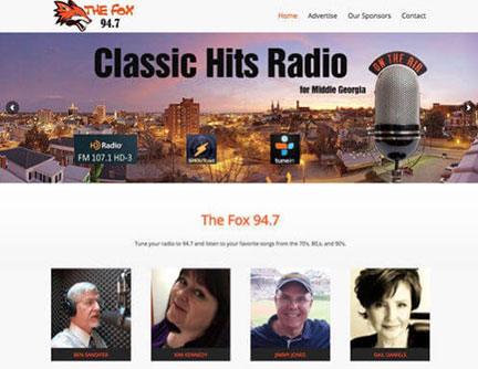 Park Group, The Fox Classic Hits Radio Website