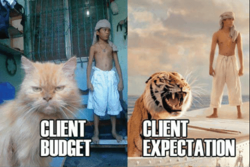Disconnect between client budget and expectations