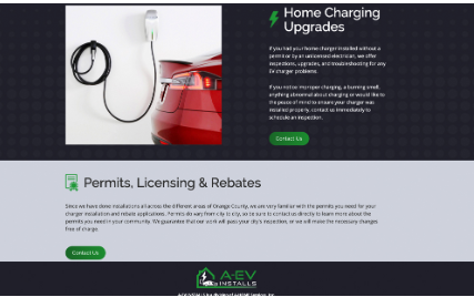 A-EV Installs Website Example