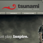 tsunami website design example